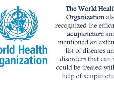 World Health Organization (WHO): Conditions Which Effectively Treated By Acupuncture