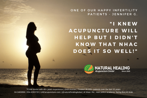 We have treated thousands of infertility patients by acupuncture treatment over the past 15 years in Dubai. Call Natural Healing Acupuncture Center 04-3483896