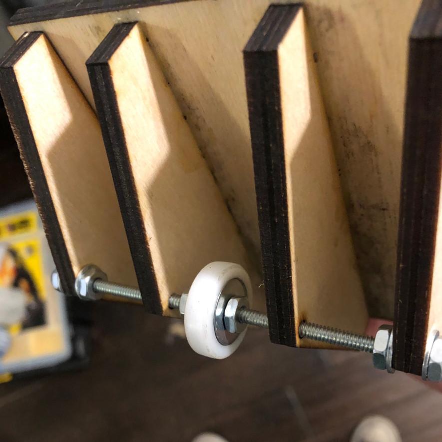 Autochrome press roller