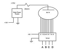 Simple nixie schematic