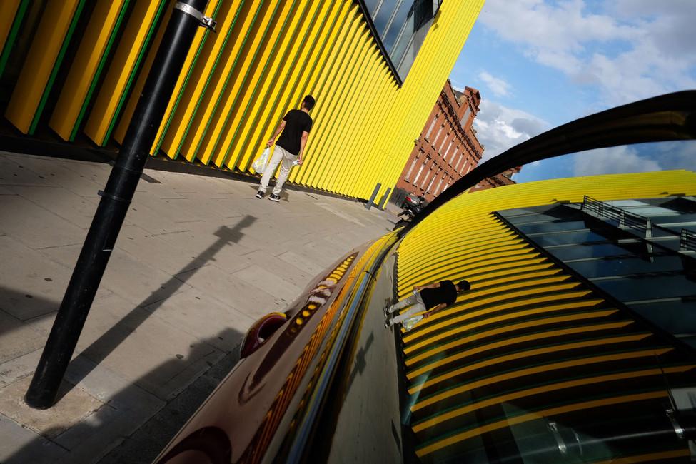 Yellow curtain-wall