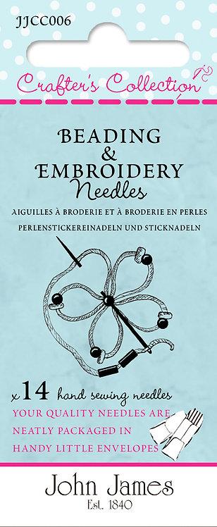 John James Needles JJCC006 Bead Embroidery Asst.