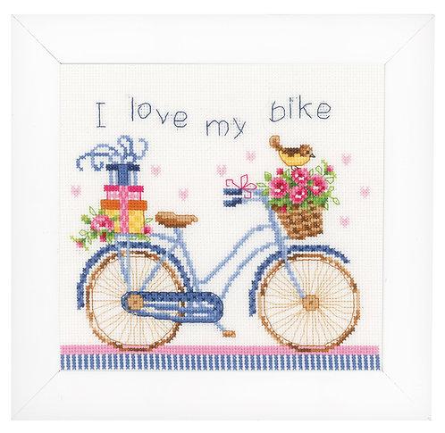 Vervaco PN-0021778 Counted Cross Stitch Kit I love my bike aida
