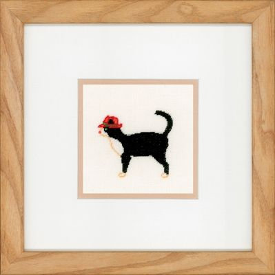 "Lanarte PN-0150008 Counted Cross Stitch Kit ""Jazz Cats II"" Linen"