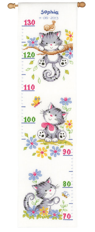 Vervaco PN-0021581 Counted Cross Stitch Kit Playful Kittens aida