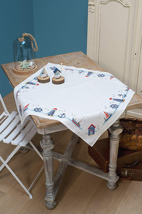 Vervaco PN-0147141 aida tablecloth kit maritime design