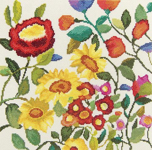 """RTO M445 Cross-stitch kit """"Flower kaleidoscope"""""""