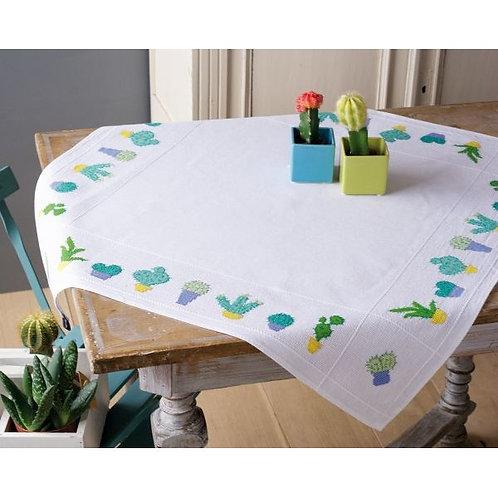 "Vervaco PN-0155956 Aida Tablecloth ""Cactuses"""
