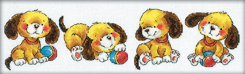 "RTO M161 Cross-stitch kit ""Four puppies"""