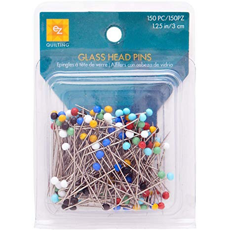 EZ Quilting 881426A Glass Head Pins
