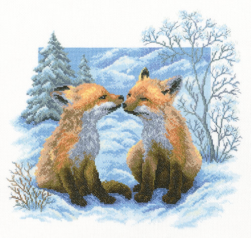"RTO M322 Cross-stitch kit ""Fox cubs"""
