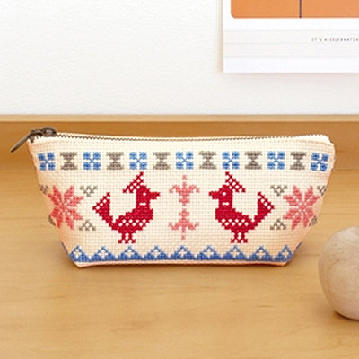 Olympus cross-stitch kits Pencil case no.9033