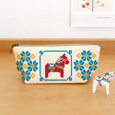 Olympus cross-stitch kits Pencil case no.9034