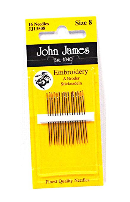 John James Needles JJ13506 Embroidery Size 6