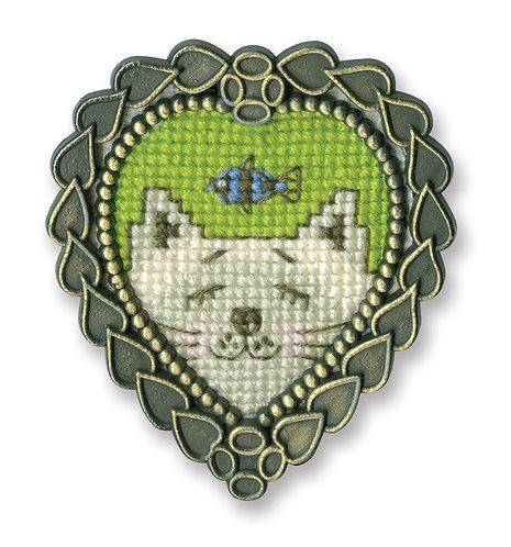 """RTO FA016 Cross-stitch kit """"White Cat"""""""