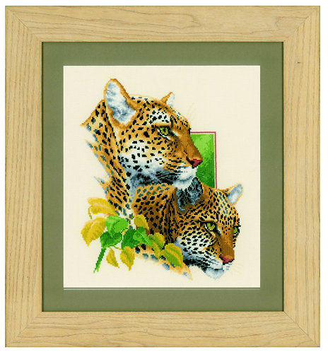 """Vervaco PN-0143772 Counted Cross Stitch Kit """"Leopard Couple"""" Aida"""