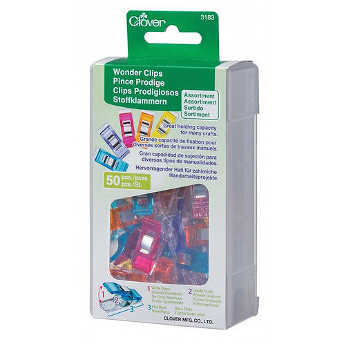 Clover 3183 Wonder Clips 50 Piece Assorted Colors