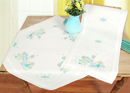 Vervaco PN-0021435 tablecloth kit dragonflies in grass