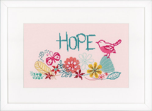 "Vervaco PN-0156480 Counted Cross Stitch Kit ""Hope"" Aida"