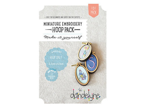 Dandelyne 3 packs of 2.7cm x 4.5cm OVAL miniature embroidery hoops