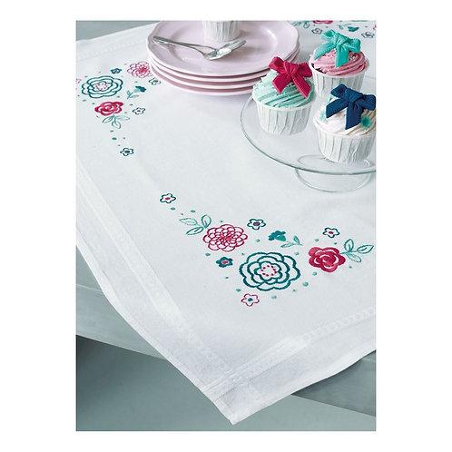 "Vervaco PN-0154544 Pre-Printed Tablecloth ""Modern flowers"""