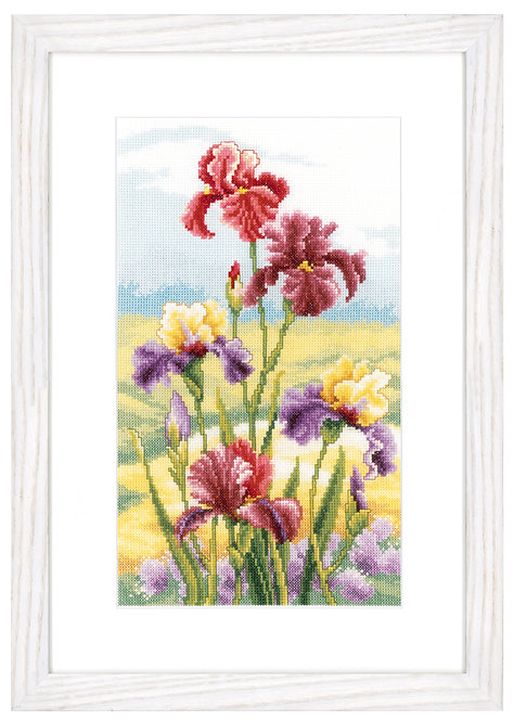 "Vervaco PN-0146944 Counted Cross Stitch Kit ""Irises at dawn"" aida"