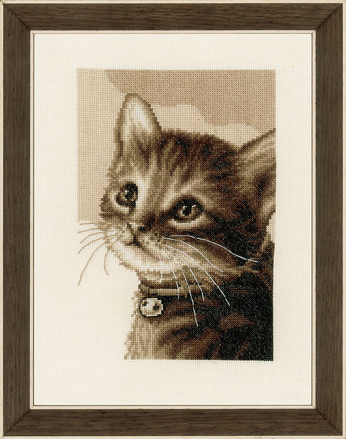 Vervaco PN-0158081 counted cross stitch kit kitten
