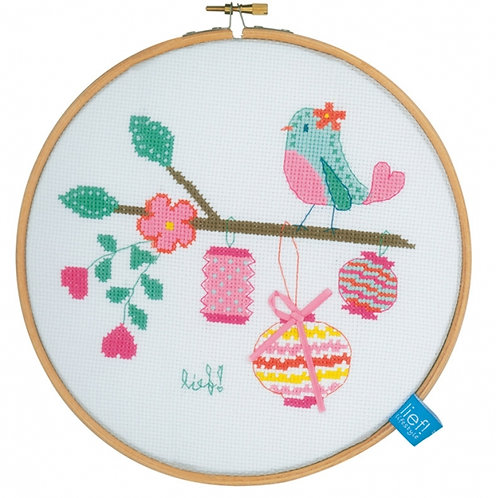 "Vervaco PN-0154500 Counted Cross Stitch kit ""Bird with Lanterns"" Aida"