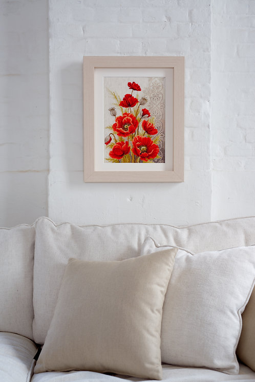 Vervaco PN-0146330 Counted Cross Stitch K Poppies and Swirls aida