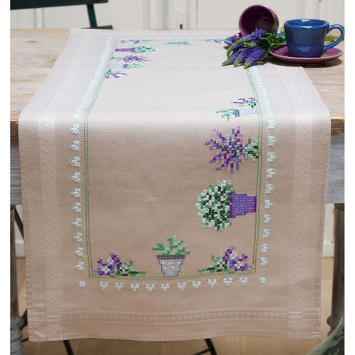 Vervaco PN-0165726 table runner kit lavender