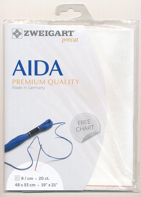 Zweigart 3326/101 Precut Aida extra fine