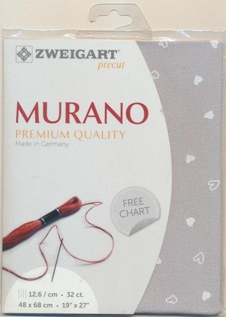 Zweigart 3984/7409 Precut Murano Lugana Petit Coeur