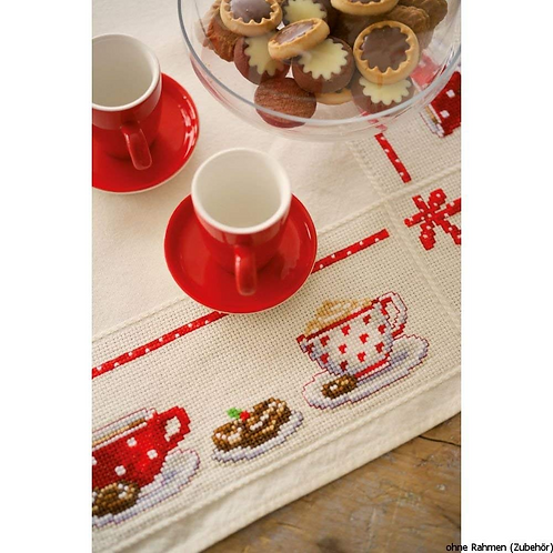Vervaco PN-0149144 aida tablecloth kit coffee break