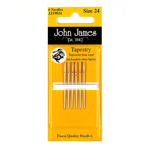 John James Needles JJ19824 Tapestry Size 24