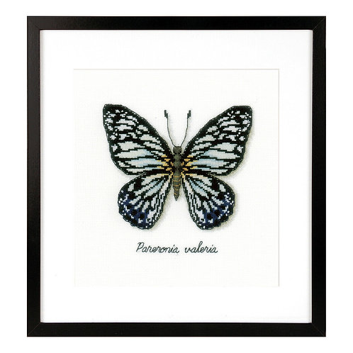 Vervaco PN-0165403 counted cross stitch kit lmv blue butterfly