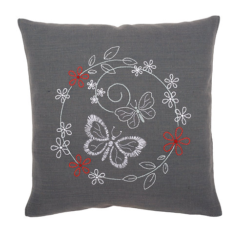 "Vervaco PN-0156071 Embroidery Cushion ""Butterflies"""