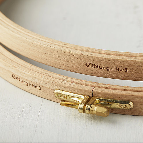 Nurge Screwed Wooden Embroidery Hoop (Height: 16mm)