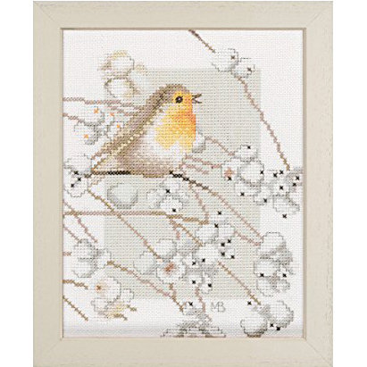"Lanarte PN-0008056 Counted Cross Stitch Kit ""Robin"" Counted Fabric"