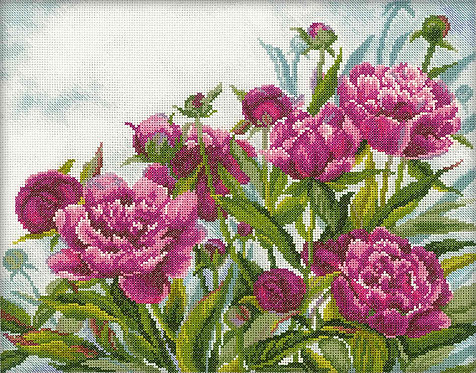 "RTO M272 Cross-stitch kit ""Peonies"""