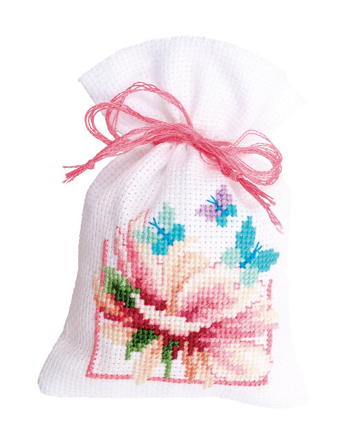 Vervaco PN-0150898 Bags Flowers and Butterflies II aida set of 3