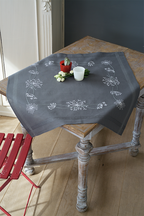 Vervaco PN-0164728 tablecloth kit white flowers