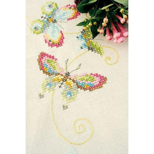 "Vervaco PN-0155233 Pre-Printed Tablecloth ""Butterflies"""
