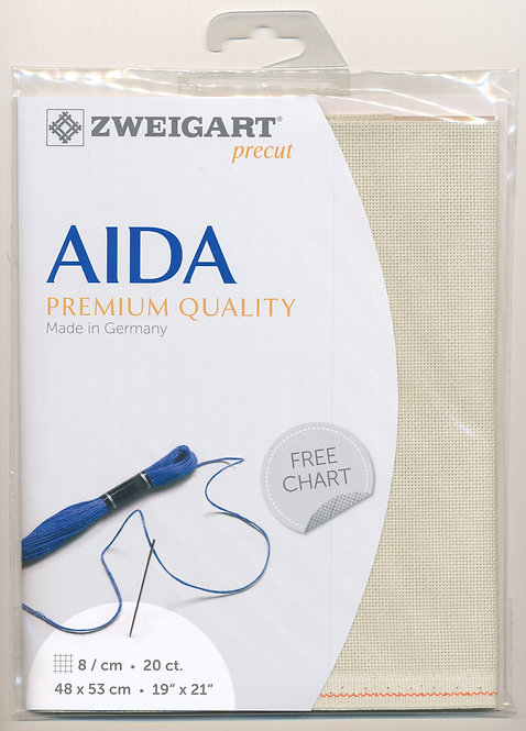 Zweigart 3326/6047 Precut Aida extra fine