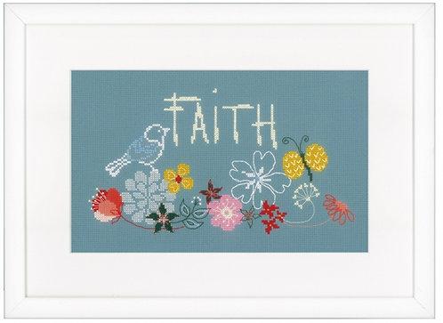 "Vervaco PN-0156444 Counted Cross Stitch Kit ""Faith"" Aida"
