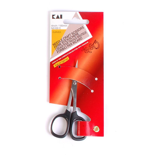 KAI N5100C: 4-Inch Needle Craft (Curved Tip) Scissors