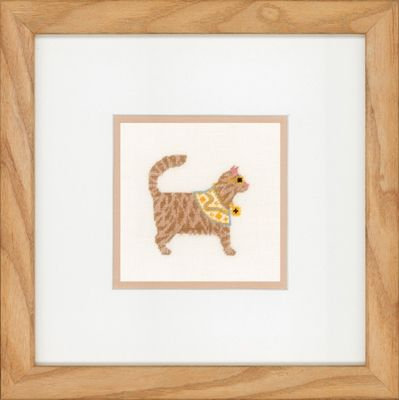 "Lanarte PN-0150009 Counted Cross Stitch Kit ""Rock Cats"" Linen"