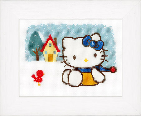 Vervaco PN-0148648 Counted Cr Stitch Kit Hello Kitty Winter aida