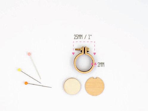 "Dandelyne 3 packs of 1""/2.5cm teeny tiny embroidery hoops"