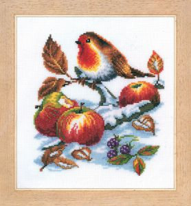 Vervaco 2002/70362-Counted Cross Stitch Kit Robins Treasure