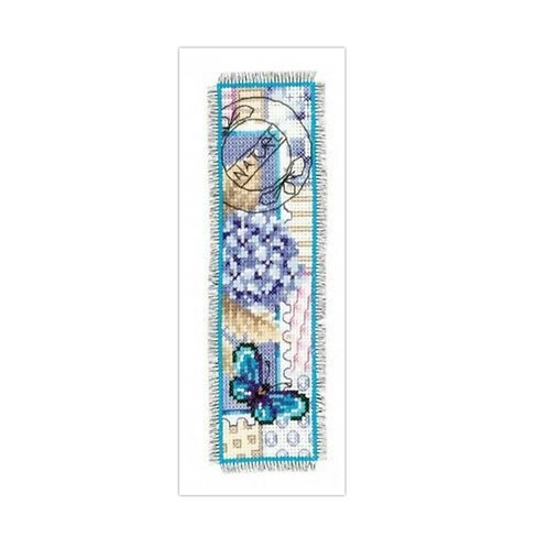 Vervaco PN-0145091 Bookmark Hortensia and Butterfly aida
